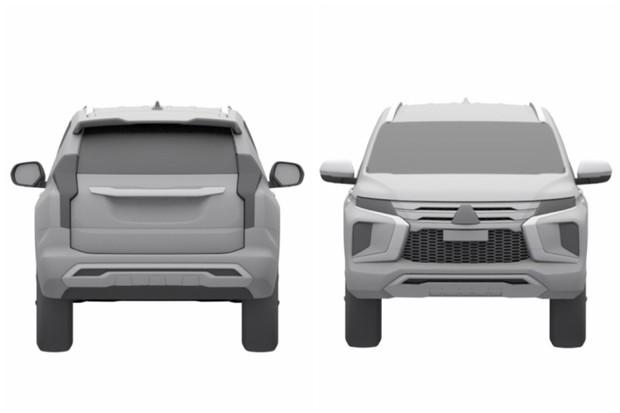 Facelift do Mitsubishi Pajero Sport é registrado no INPI (Foto: Reprodução/INPI)