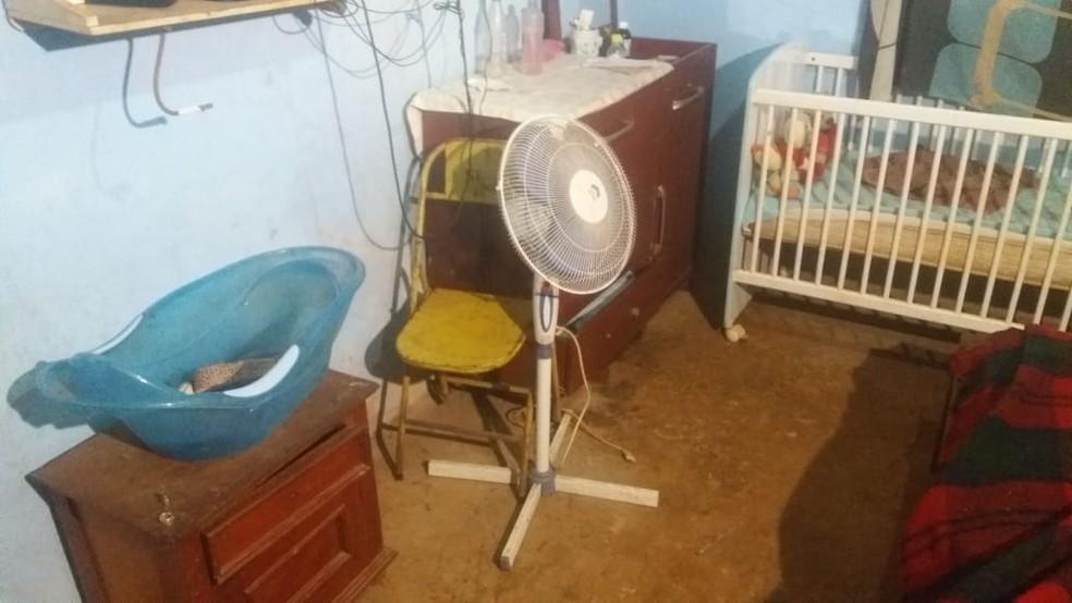 Stefânia Gonçalves teria morrido após choque ao ligar ventilador, em Aparecida de Goiânia — Foto: Saulo Lopes/TV Anhanguera