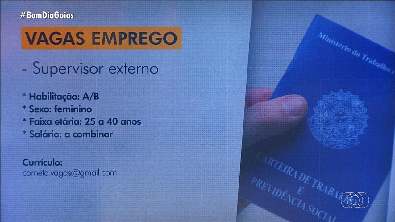 Veja vagas de emprego em Goiás
