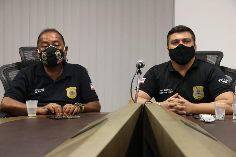 Delegados Odair Carneiro (à esquerda) e José Bezerra (à direita) — Foto: Alberto Maraux/SSP-BA