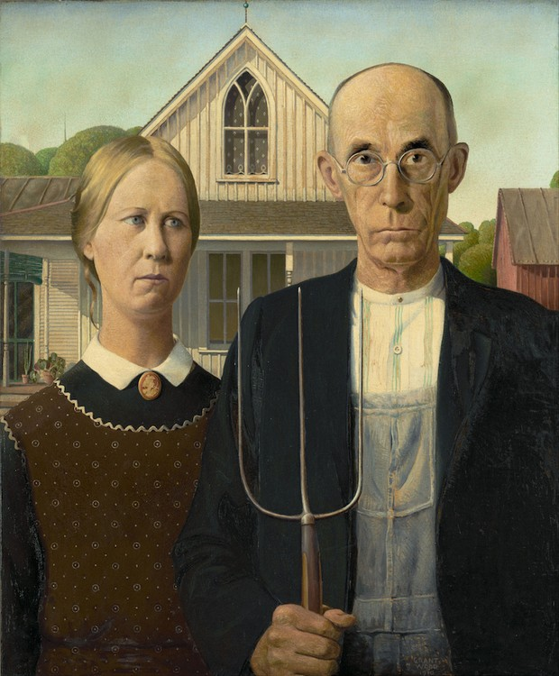 """Quadro """"American Gothics"""" de Grant Woods (Foto: Nationalmuseum/ Reprodução)"""