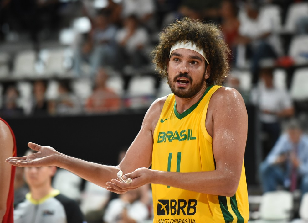 Anderson Varejão vai disputar a Copa do Mundo de basquete na China — Foto: Bellenger/IS/FFBB