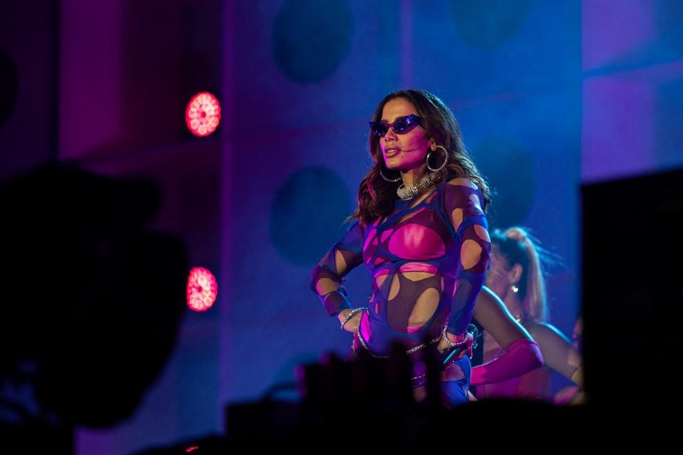 Anitta canta no palco Mundo no Rock in Rio 2019 — Foto: Marcelo Brandt/G1