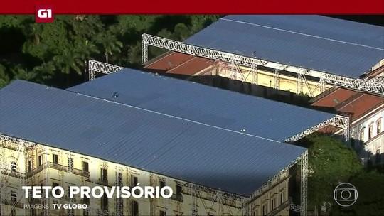 G1 em 1 Minuto: Museu Nacional recebe teto provisório e terá apoio da Itália