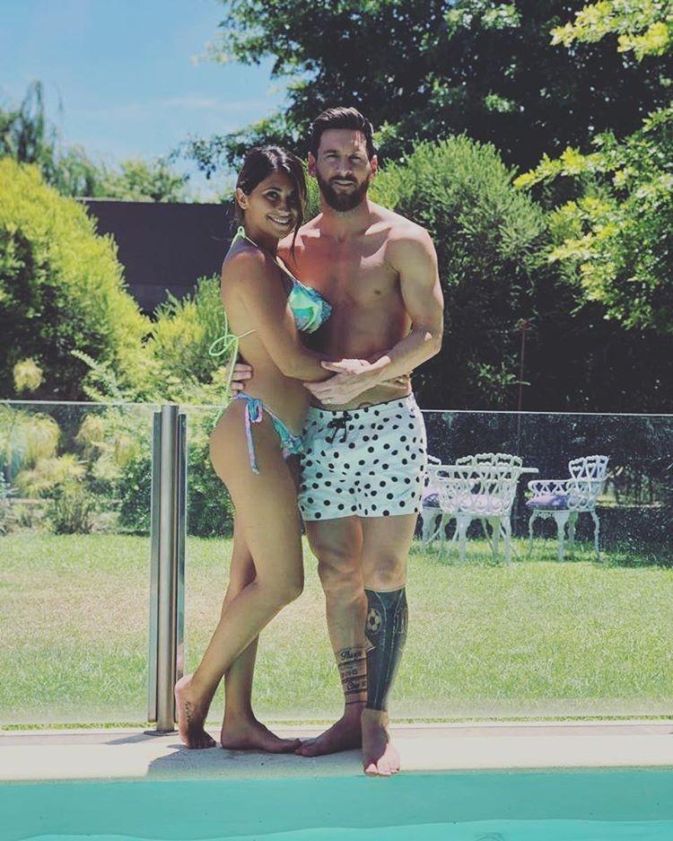 Antonella Roccuzzo e Lionel Messi (Foto: Reprodução/Instagram)