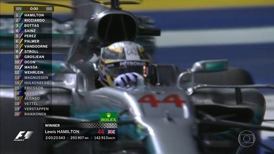 """Hamilton revela o que pensou ao saber de chuva: """"Posso vencer largando em 5º"""""""