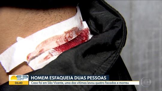 Homem esfaqueia duas pessoas em São Vicente