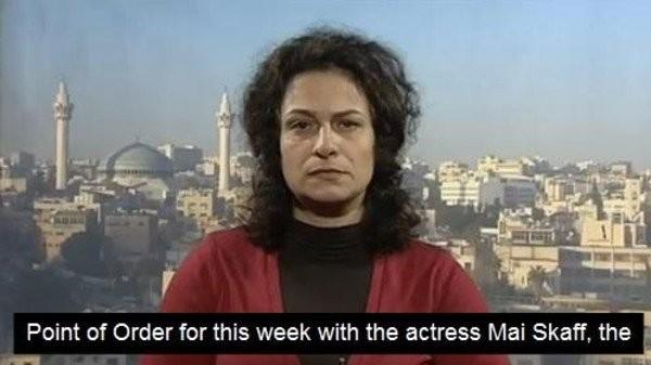 A atriz síria May Skaf ficou conhecida como uma crítica ferrenha ao regime do presidente sírio, Bashar al-Assad (Foto: Reprodução)