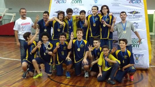 8bca16f72bb Colégio Jean Piaget e a UME Rui Barbosa foram os vencedores do masculino e  feminino