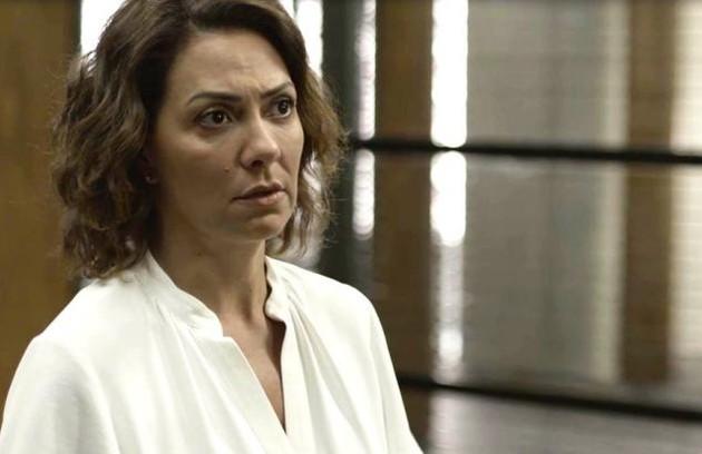Na sexta-feira (10), Nana (Fabiula Nascimento) sofrerá um acidente na editora após uma sabotagem de Diogo (Foto: TV Globo)