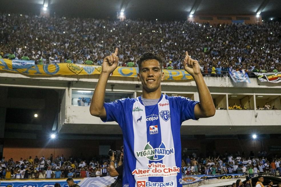 Vinícius Leite deve deixar o Paysandu nos próximos dias — Foto: Jorge Luiz/Ascom Paysandu