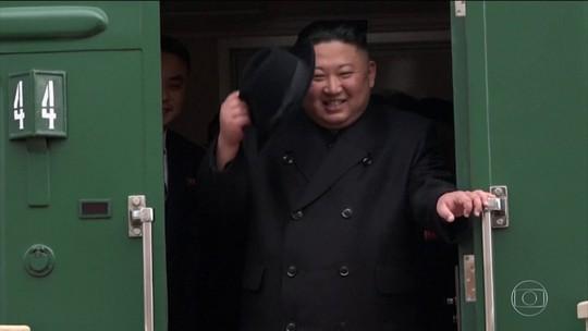 Kim Jong-un chega à Rússia para encontro com Putin