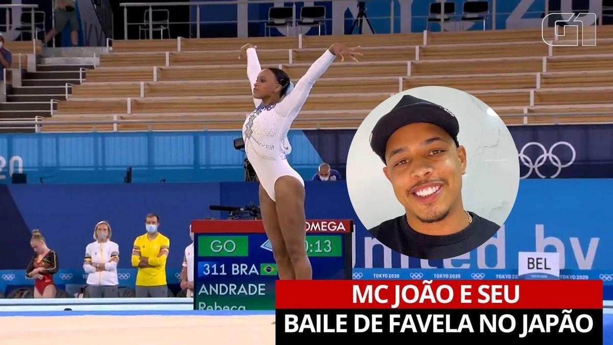 'Baile de Favela' em Tóquio: autor do funk que embalou Rebeca Andrade, MC João manda 'energia positiva' para a final; VÍDEO