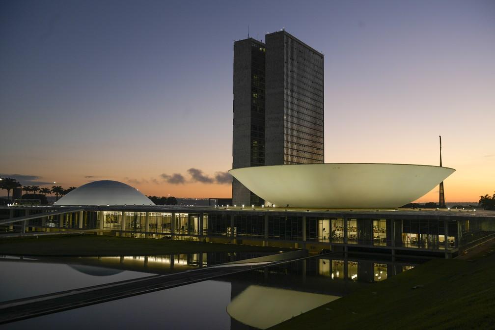 Fachada do Congresso Nacional, a sede das duas Casas do Poder Legislativo brasileiro. — Foto: Pedro França/Agência Senado