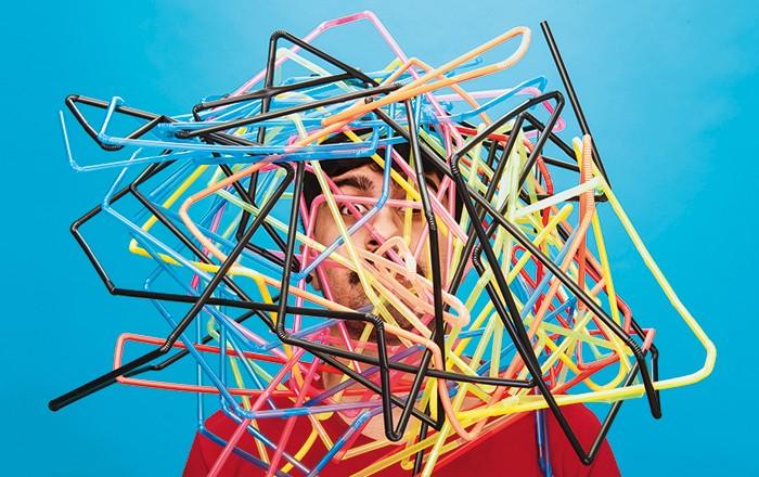 Cabeça com vários canudos (Foto Tomás Arthuzzi) (Foto: Cabeça com vários canudos (Foto Tomás Arthuzzi))