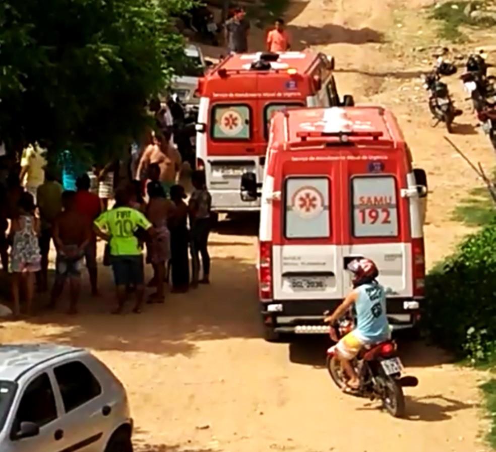 Ambulâncias do SAMU foram chamadas para socorrer os feridos  — Foto: PMRN/Divulgação