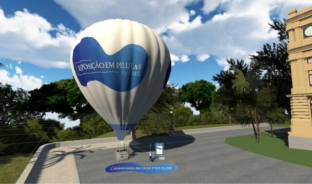 Aplicativo possibilita voo panorâmico pelo Museu do Ipiranga (Foto: Reprodução/app Museu do Ipiranga Virtual)