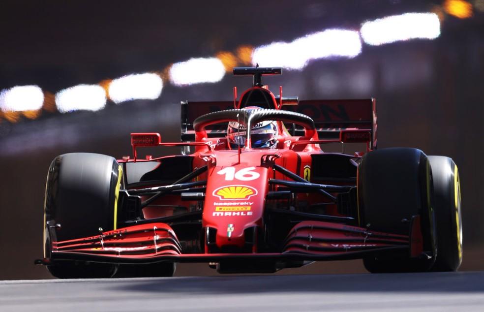 Charles Leclerc no treino do GP de Mônaco — Foto: Lars Baron/Getty Images