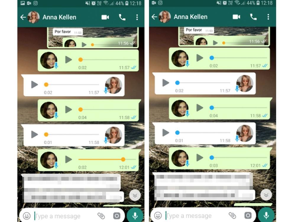 Áudio do WhatsApp laranja? Usuários comentam atualização misteriosa  — Foto: Reprodução/Aline Batista