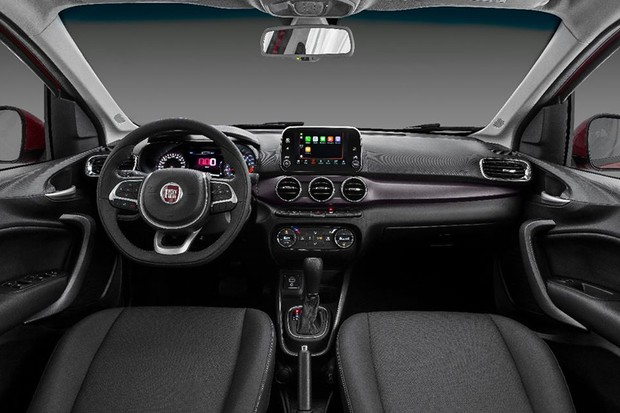 este o interior do fiat cronos auto esporte not cias. Black Bedroom Furniture Sets. Home Design Ideas