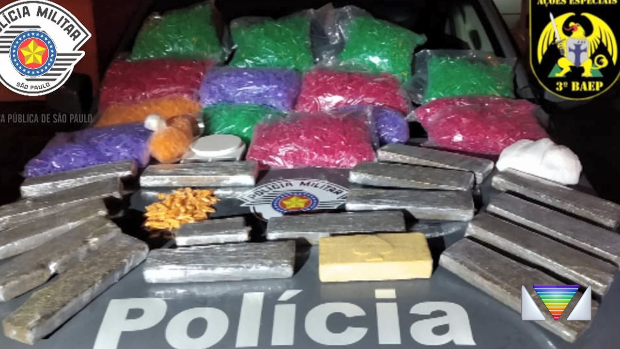 Baep apreender cerca de 14kg de drogas em Guaratinguetá