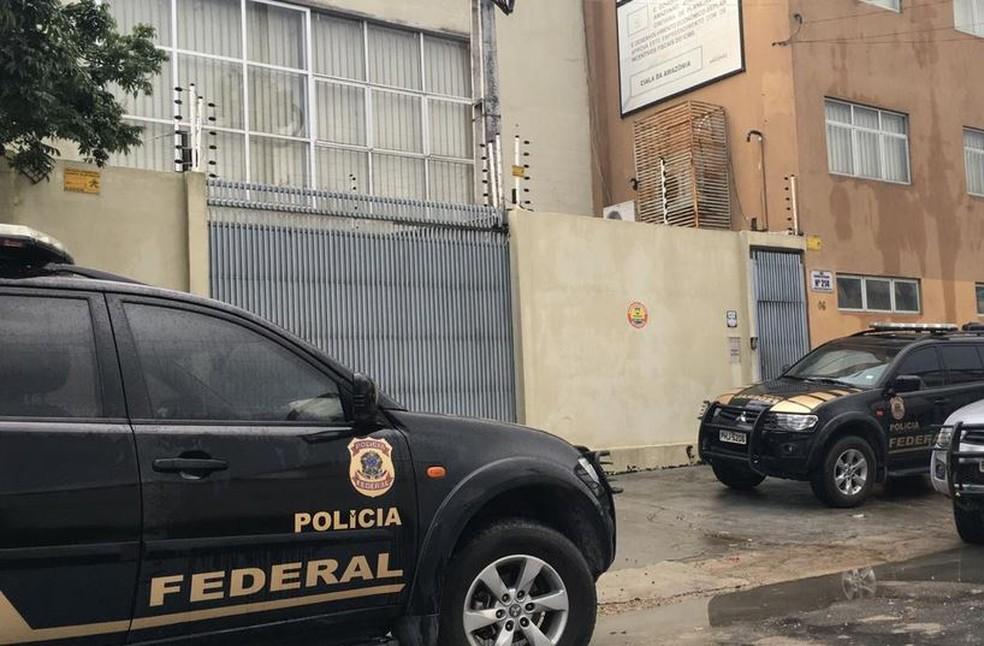 Empresa em Manaus foi alvo da operação da PF (Foto: Reprodução/Rede Amazônica)