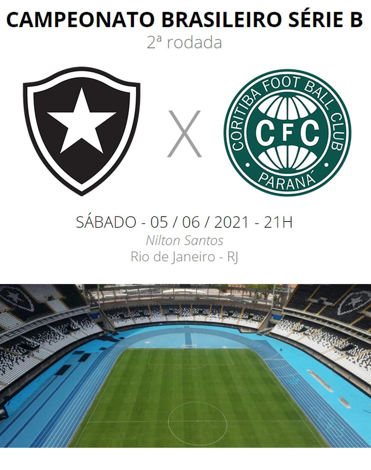 Botafogo X Coritiba Veja Onde Assistir Escalacoes Desfalques E Arbitragem Brasileirao Serie B Ge