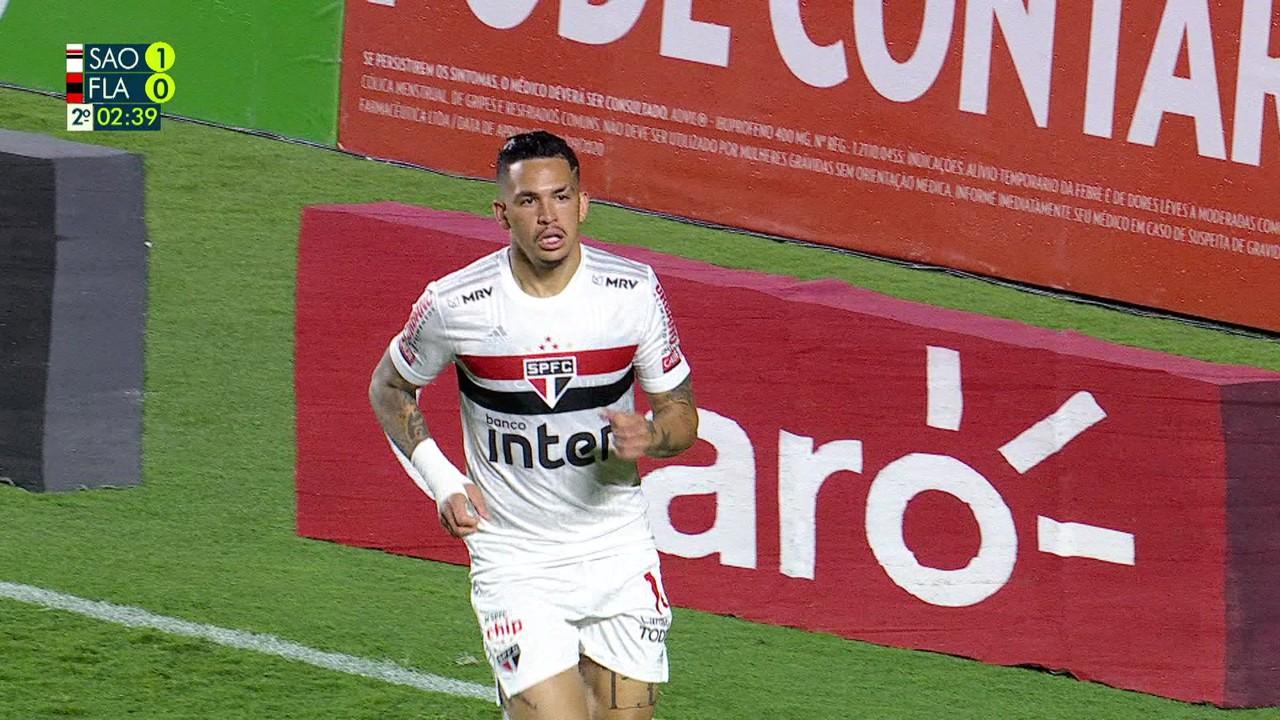 Novamente contra o Flamengo, dessa vez pela Copa do Brasil, ele completou cruzamento de Daniel Alves e fez
