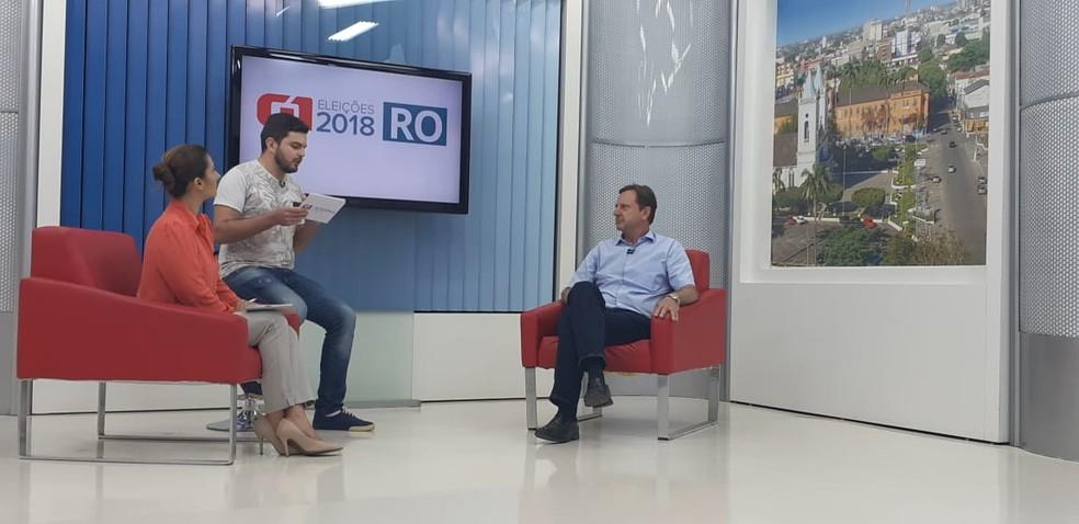 Entrevista com o candidato ao governo de RO, Acir Gurgacz (Foto: Cássia Firmino/G1)