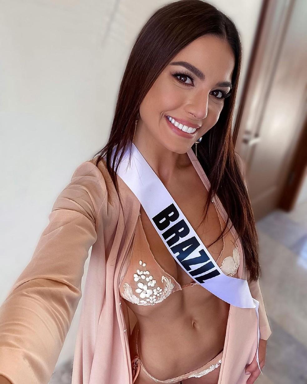 Julia Gama representa o Brasil no Miss Universo 2021, que acontece no domingo (16) — Foto: Arquivo Pessoal