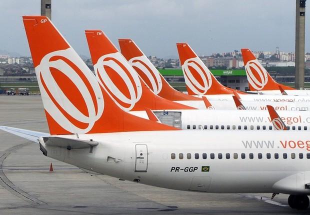 Aviões da Gol Linhas Aéreas (Foto: Divulgação)