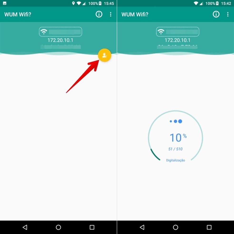 Faça a verificação de dispositivos conectados à rede pelo app Quem usa meu Wifi? — Foto: Reprodução/Helito Beggiora