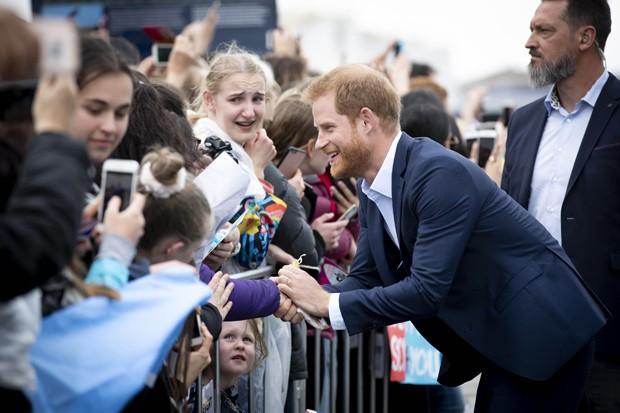 Príncipe Harry e Meghan Markle em Auckland (Foto: Getty Images)