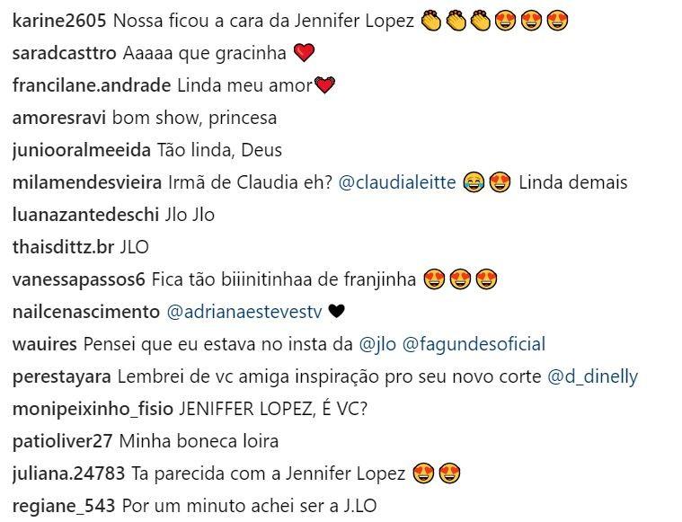 Comparações entre Claudia Leitte e Jennifer Lopez (Foto: Reprodução/Instagram)
