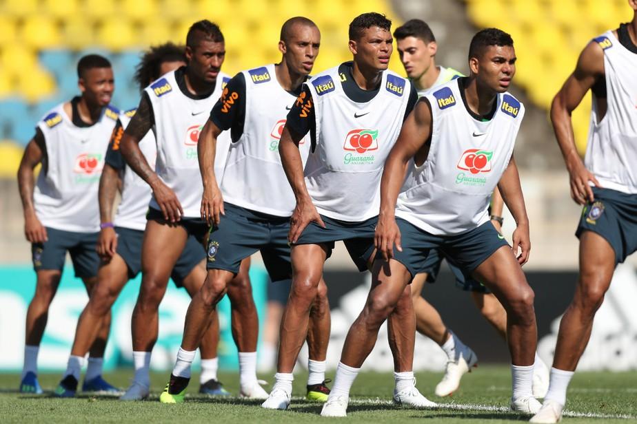 d9b5c76d1 ... Seleção brasileira vai enfrentar a Costa Rica com a mesma escalação da  estreia