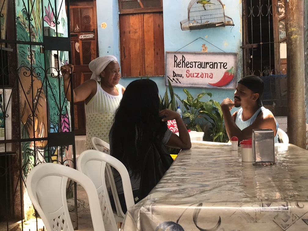 Restaurante de Dona Suzana é famoso no bairro da Gamboa — Foto: Itana Alencar/G1