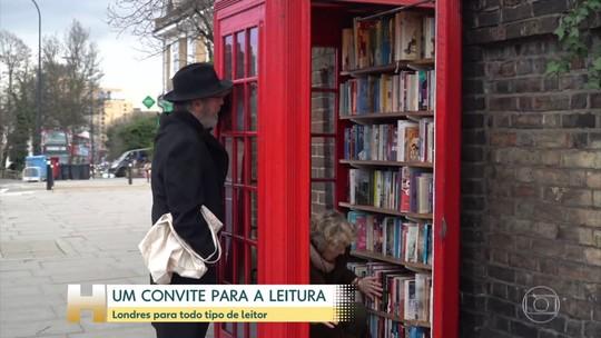 Londres inspira escritores e convida para leitura, com livros até em cabine de telefone
