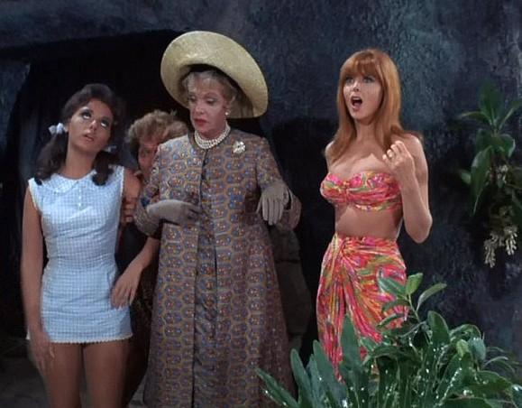 A atriz Dawn Wells em cena da série A Ilha dos Birutas, nos anos 60 (Foto: Reprodução)