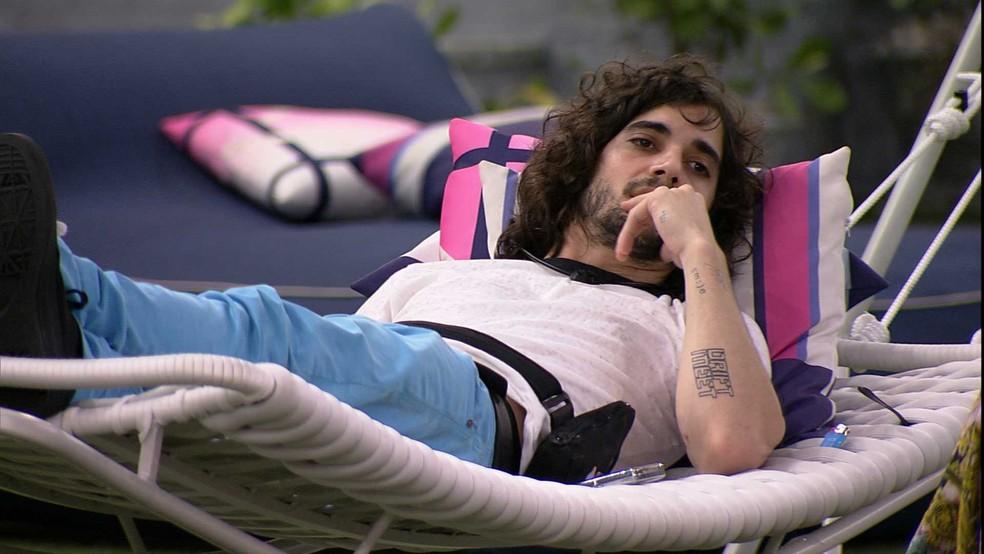 Fiuk opina sobre sua relação com Projota no BBB21: 'Sinto que fica divido' — Foto: Globo