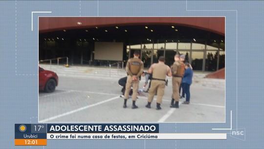Adolescente de 16 anos é morto em Criciúma com tiro na cabeça