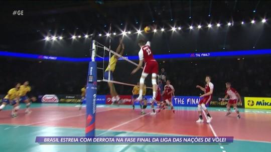 Brasil estreia com derrota para a Polônia na fase final da Liga das Nações de vôlei masculino