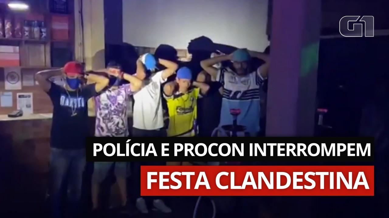 VÍDEO: Polícia e Procon interrompem festa clandestina na Zona Sul de SP
