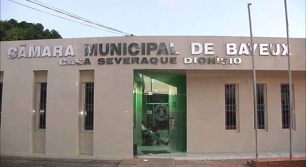 Câmara Municipal de Bayeux — Foto: Reprodução/TV Cabo Branco
