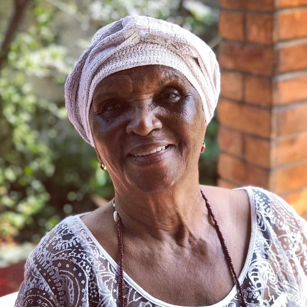 Chica Xavier - com mais de 60 anos de carreira, destacou-se como uma dos maiores símbolos da representatividade negra na arte brasileira.  — Foto: Reprodução/Instagram Luana Xavier