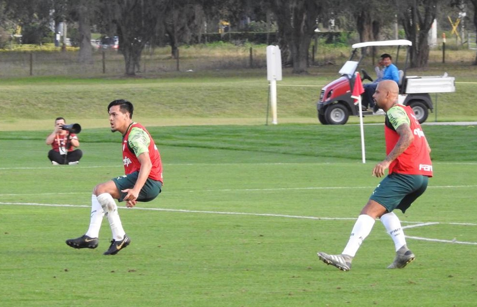 Com Felipe Melo na zaga, Palmeiras finaliza primeiro treino na Florida; veja como foi