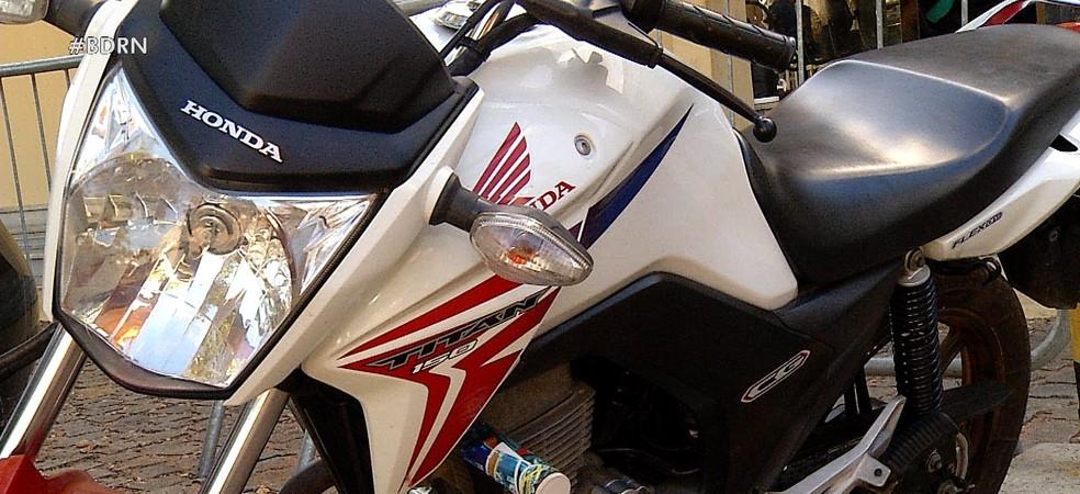 Moto roubada foi recuperada após anúncio em site de compras e vendas — Foto: Reprodução/Inter TV Cabugi