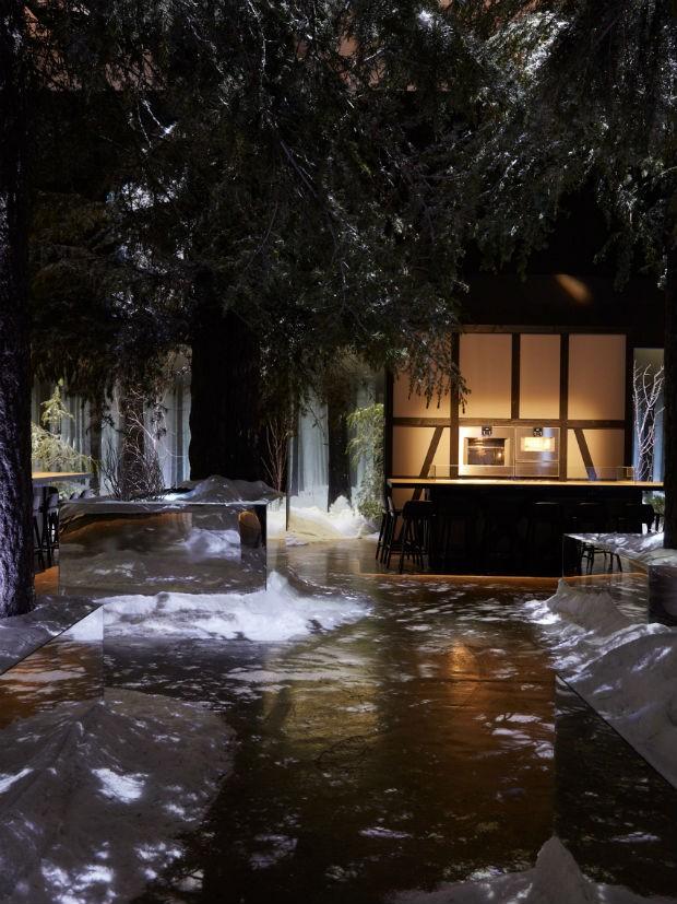 Designer alemão recria Floresta Negra em restaurante pop-up (Foto: Divulgação)