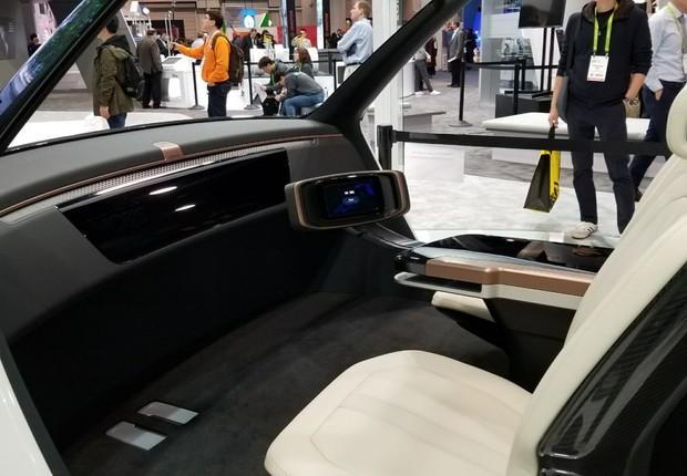 Conceito de carro autônomo da Hyundai, apresentado na CES 2018 (Foto: Natasha de Caiado Castro)