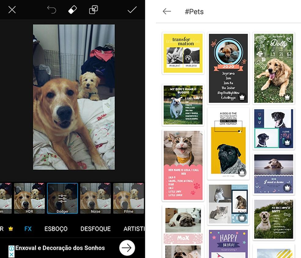 PicsArt é app para filtros de fotos com efeitos — Foto: Reprodução/Marcela Franco