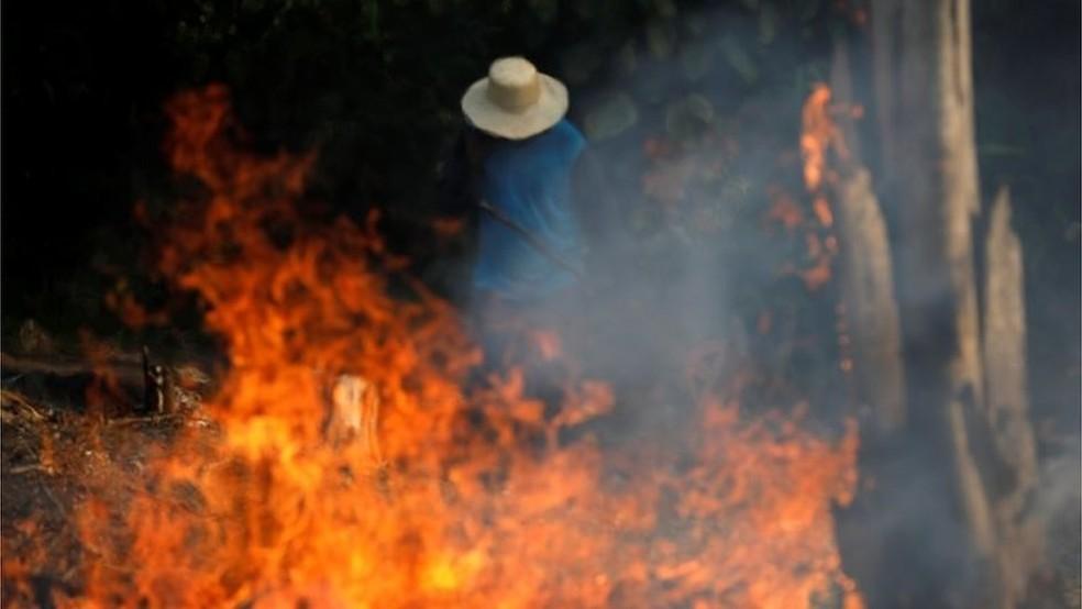Amazônia é o bioma mais afetado por incêndios florestais em 2019, diz Inpe — Foto: Reuters